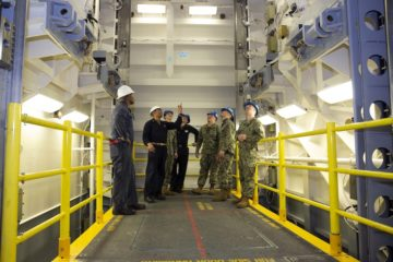 USS Gerald R. Ford gets first advanced weapons elevator