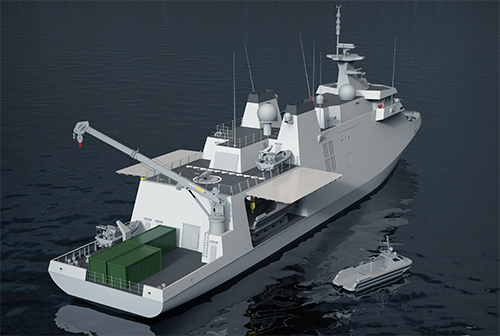 Damen unveiled the design of its MCM Vessel candidate for the Belgian-Dutch Requirement