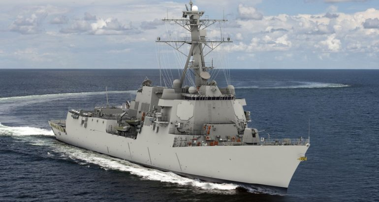 U.S. Navy Contract for Fifth DDG 51 Destroyer Awarded to Bath Iron Works