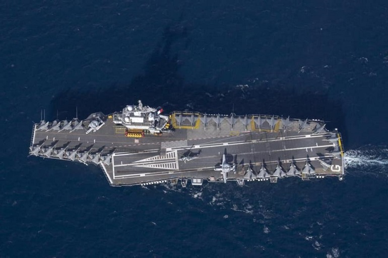 A Record 35 Aircraft Aboard French Aircraft Carrier Charles de Gaulle 1