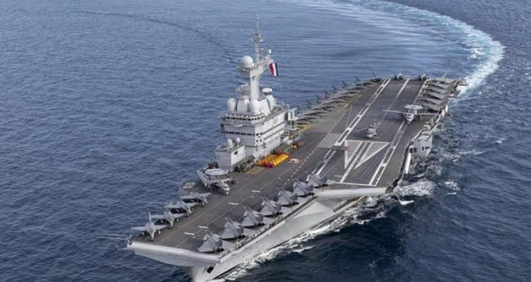 A Record 35 Aircraft Aboard French Aircraft Carrier Charles de Gaulle 2