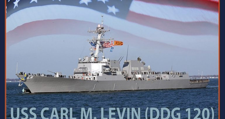 Bath Iron Works laid keel of future USS Carl M. Levin (DDG 120) 1