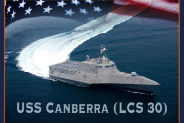 Construction begins on US Navy's future USS Canberra