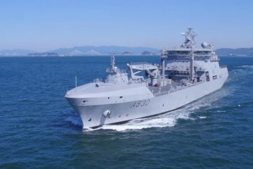 DSME-built logistics support vessel HNoMS Maud on maiden trip to Norway