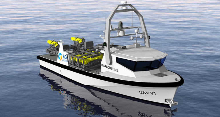 ECA GROUP unveils INSPECTOR 125 unsinkable USV 1