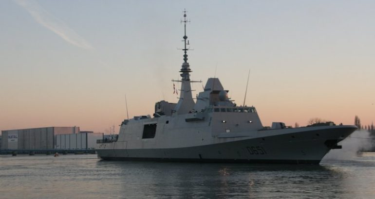 The French Navy's sixth FREMM Normandie started builder's trials on February 25, the Naval Group announced today. Based on photos posted on the company's Twitter account, the multirole frigate seems to have set sail from the Naval Group Lorient shipyard.