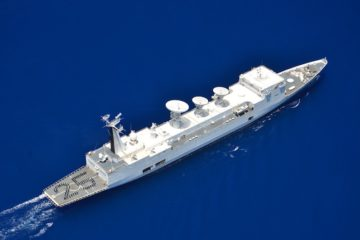 French Navy's Monge Missile Range Instrumentation Ship back at sea