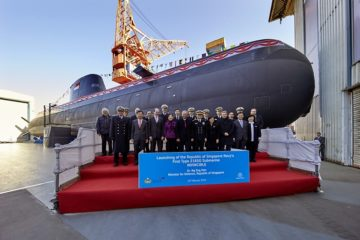 Republic of Singapore Navy launches first Type 218SG Invincible-class submarine