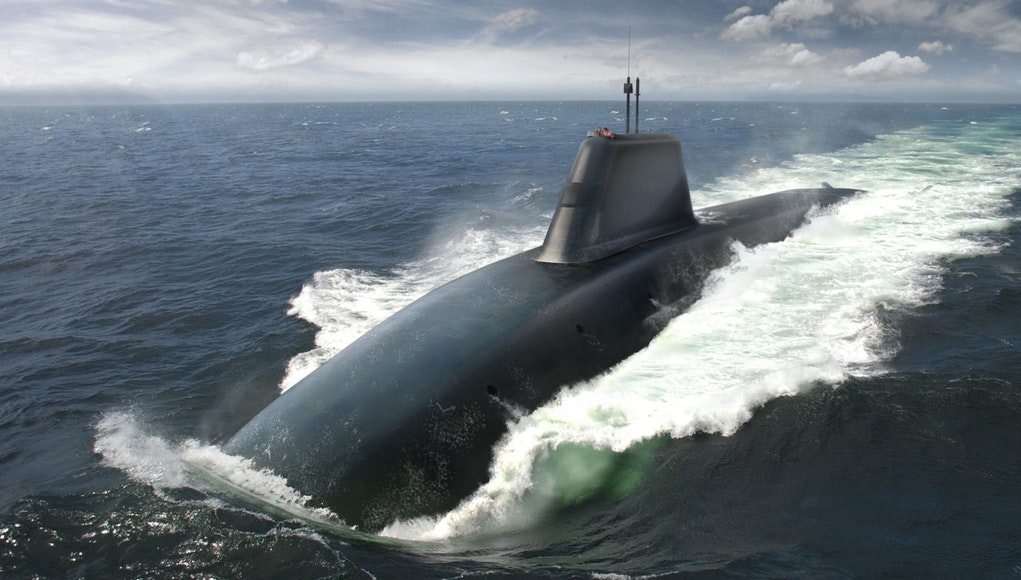 An artist rendering of future Successor-class submarine. Successor-class is United Kingdom future ballistic missile submarine which will be the replacement for the Vanguard class.