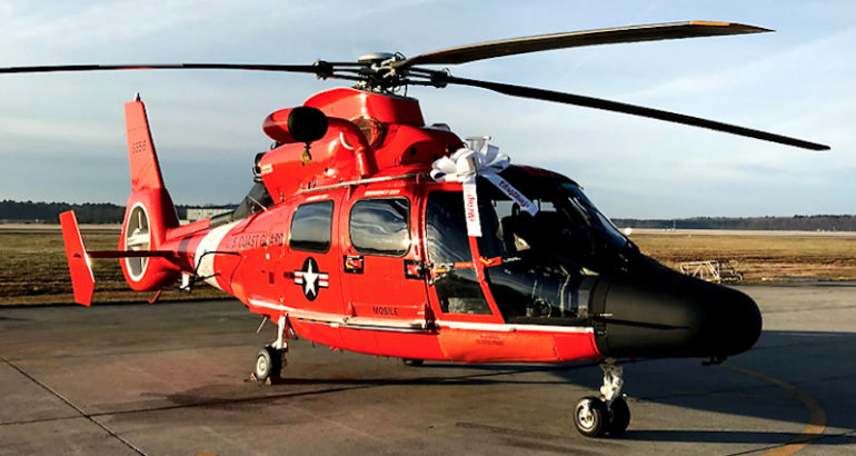 The US Coast Guard (USCG) is completing the first phase of production and moving to full-rate production on concurrent Service Life Extension Program (SLEP) and avionics upgrades of the service's H-65 short range recovery helicopters, a SAR variant of the French-built AS365 Dauphin.