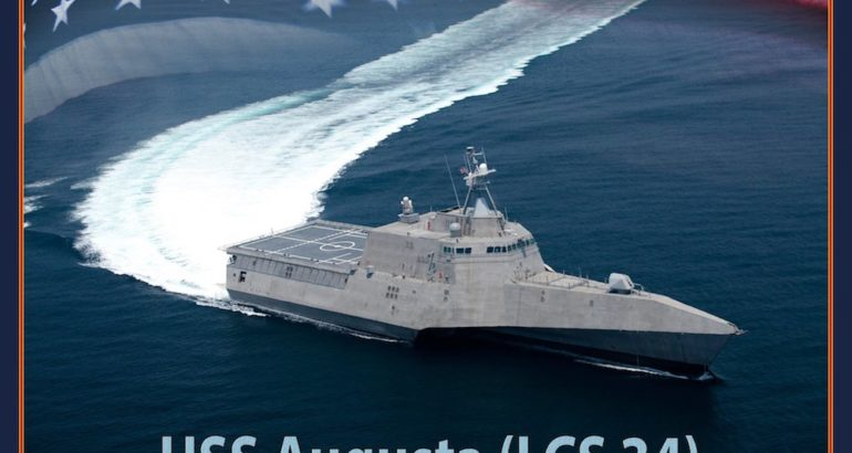 Austal USA is proud to announce the name of littoral combat ship 34, USS Augusta (LCS 34) after the city of Augusta, Maine, the shipyard announced on January 31.