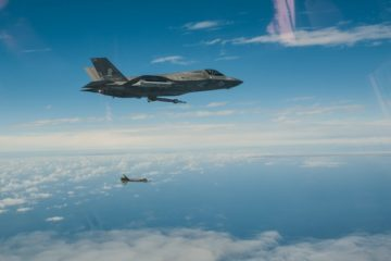 USMC F-35Bs conduct first strike at sea with externally-mounted weapons