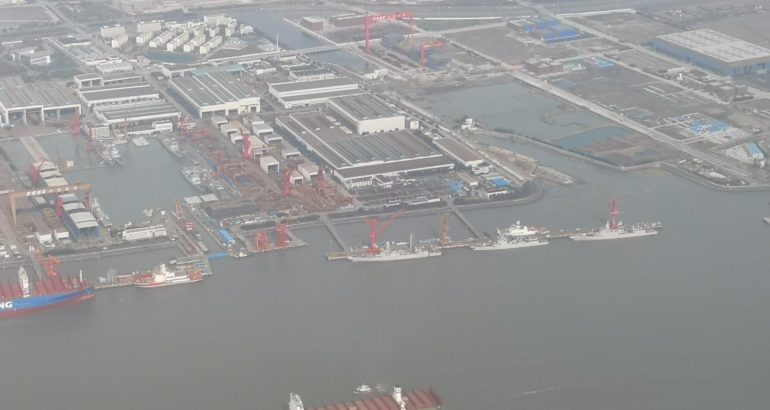 15 Destroyers & 1 Aircraft Carrier Under Construction at China's Jiangnan Shipyard 1
