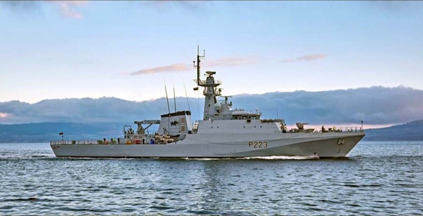 The transformation of the patrol ship force has taken a big step forward as HMS Medway Batch 2 River-class OPV raised the White Ensign for the first time, the Royal Navy announced on March 13, 2019.