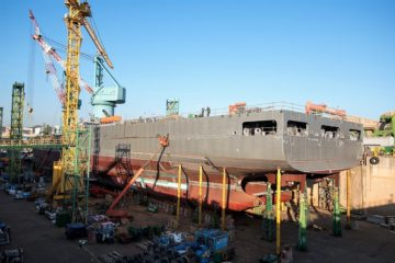 Construction of New Zealand's Future Support Vessel Progressing Well at HHI Shipyard