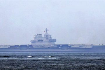 Finally, two Chinese Aircraft Carriers at sea…