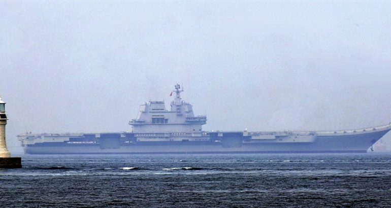 Finally, two Chinese Aircraft Carriers at sea...