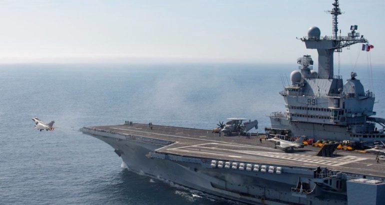 On 13th March 2019, the French Carrier Strike Group, CTF473 arrived off-shore Syria to support Combined Joint Task Force Operation Inherent Resolve, the French Ministry of Armed Forces stated.