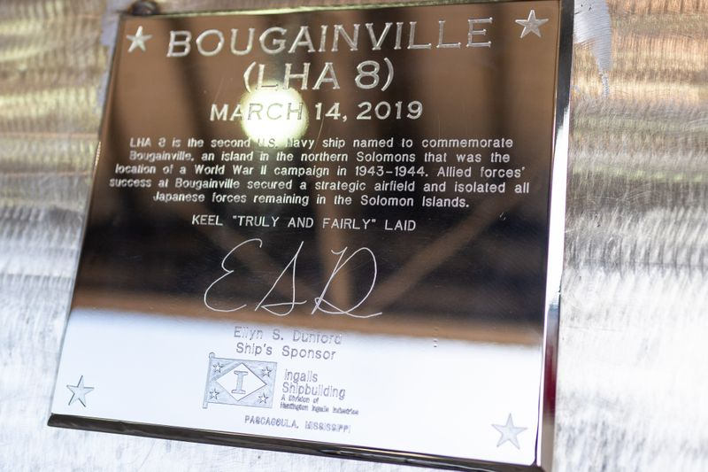 HII Authenticates Keel of America-class Amphibious Warship Bougainville (LHA 8) 2