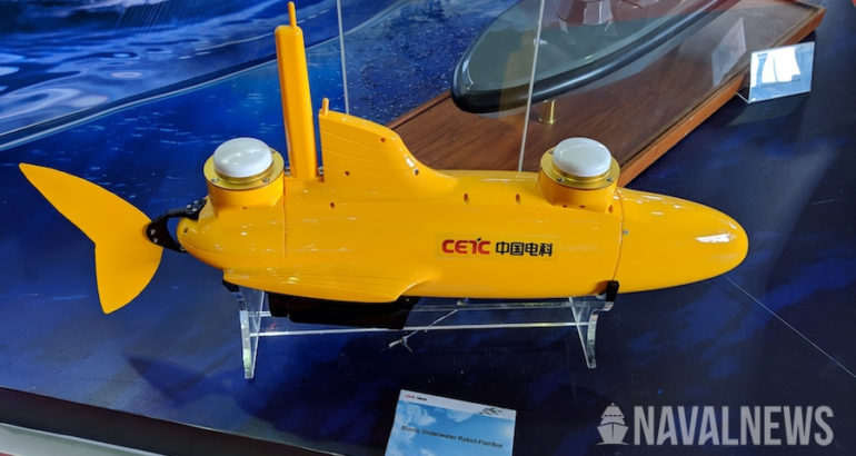 CETC's FishBot-A100 UUV at LIMA 2019