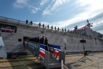 Littoral Combat Ship USS Charleston (LCS 18) Commissioned Into the U.S. Navy