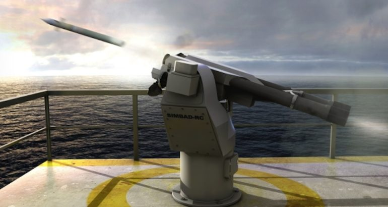 MBDA's Simbad-RC Very Short Range Air Defense (VSHORAD) System has been selected by the Philippine Navy for its future José Rizal-class frigates, currently being constructed by the South Korean shipbuilder, Hyundai Heavy Industries (HHI).