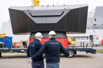 Thales SMART-L MM Radar Installed on HNLMS De Zeven Provinciën Frigate