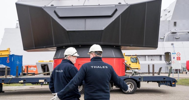 Thales SMART-L MM Radar Installed on HNLMS De Zeven Provinciën Frigate 1