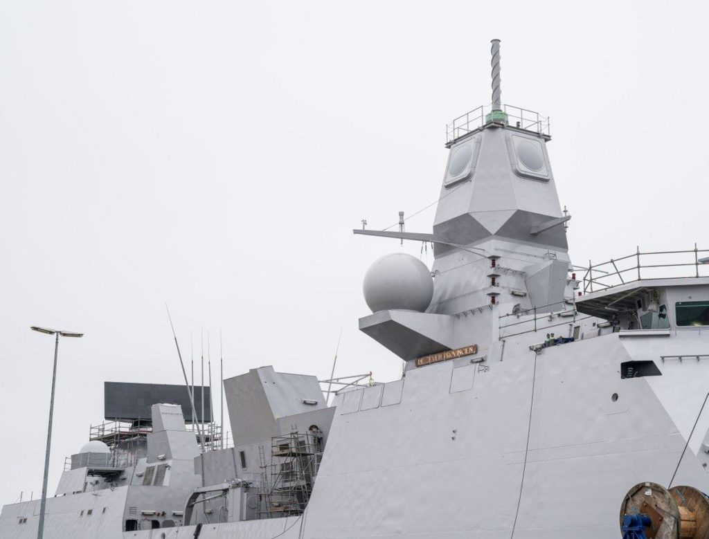 Thales SMART-L MM Radar Installed on HNLMS De Zeven Provinciën Frigate 2