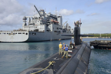 US Navy supply ships demonstrate submarine operations support capability