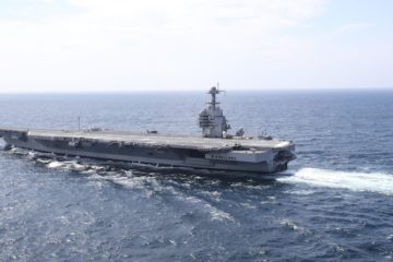 USS Gerald R. Ford carrier receives second advanced weapons elevator