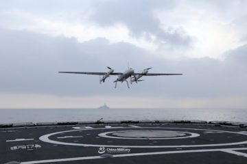 VTOL UAV now deployed from PLAN Type 052C destroyer