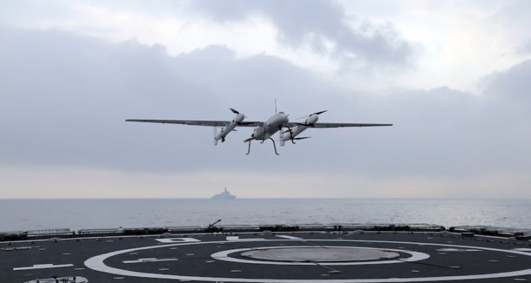 The PLA Navy recently deployed a new VTOL UAV from the Lanzhou Type 052C destroyer, the Chinese media Global Times reported. This first flight test from a military ship took place during a three-day maritime training exercise in waters of the South China Sea conducted in late February by the PLA Southern Theater Command.