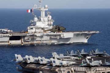 American & French Carrier Strikes Groups Conduct Maritime Exercise in Red Sea
