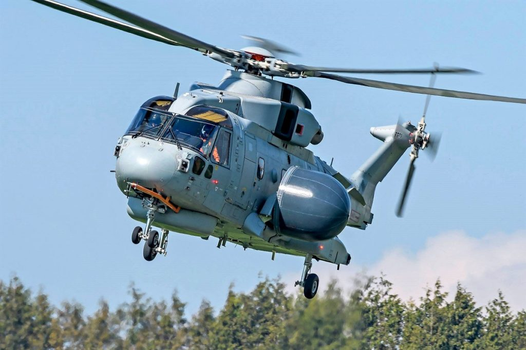 First Flight for Royal Navy's Merlin Crowsnest AEW Helicopter 1