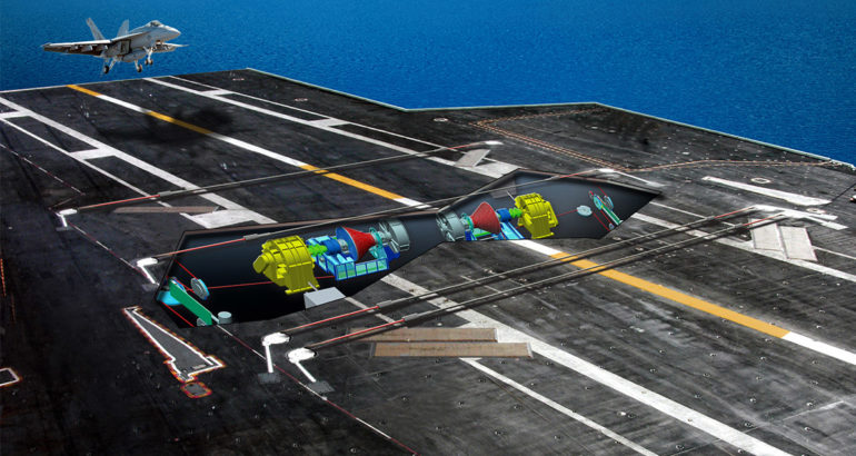AAG below deck view