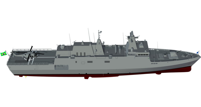 The future Tamandaré-class corvette of the Brazilian Navy. TKMS image.