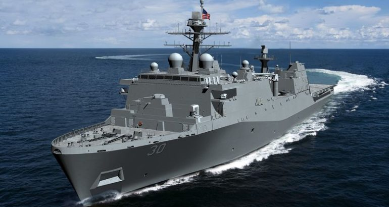 HII Awarded Contract for Construction of U.S. Navy's First Flight II LPD