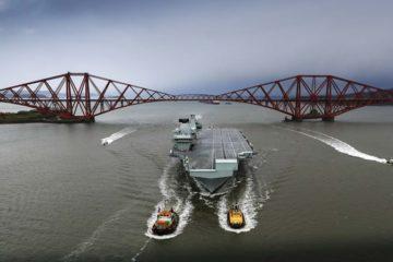 HMS Queen Elizabeth returns to Rosyth Dockyard for maintenance