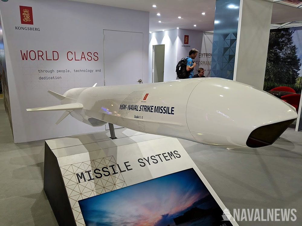 NSM full scale model on Kongsberg booth at LIMA 2019