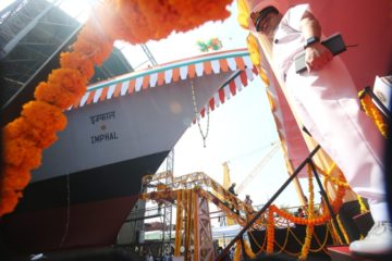 MDL Launched 3rd Visakhapatnam-class Project 15B Destroyer for Indian Navy