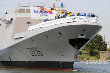 Pictures: Naval Group Launched 'Alsace' the 1st FREMM DA for the French Navy