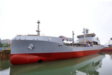 Royal New Zealand Navy's Aotearoa auxiliary ship launched in South Korea