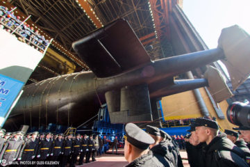Russia Launched its Project 09852 Special Mission Submarine 'Belgorod'