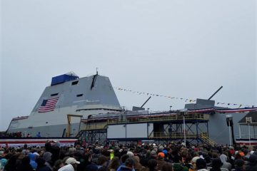 U.S. Navy Christened 3rd & Final Zumwalt-class Destroyer USS Lyndon B. Johnson