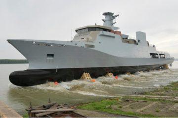 Damen launches Pakistan Navy's first 2300 tons OPV