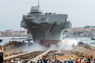 Fincantieri Launched LHD 'Trieste' for the Italian Navy