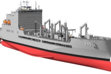 General Dynamics lays keel for US Navy's future USNS John Lewis oiler