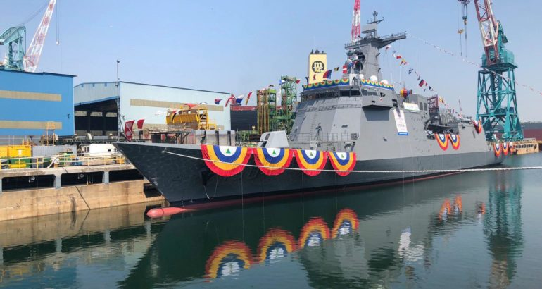 HHI Launched the 'Jose Rizal' Frigate for the Philippines Navy
