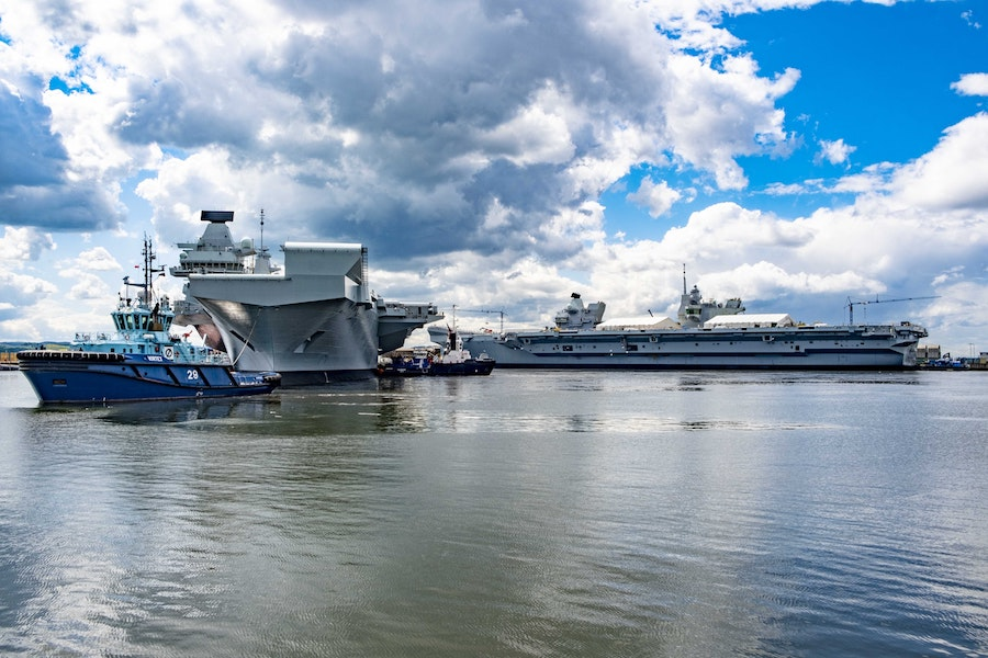 Babcock International has completed the first docking and maintenance period on HMS Queen Elizabeth at its Rosyth site, the British Aerospace and Defence company announced on May 21, 2019.